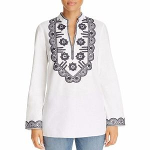 NWT Tory Burch Sequined Embroidered   Top Blouse